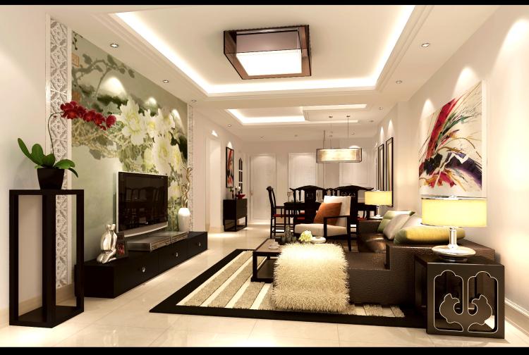 三居 新中式 公寓 客厅图片来自高度国际装饰宋增会在长滩一号120平米新中式的分享