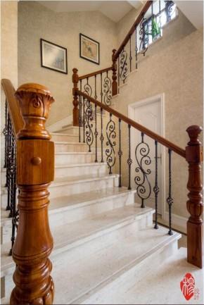 别墅 新古典 混搭 现代 收纳 美家堂装饰 别墅装修 大户型 楼梯图片来自美家堂装饰小刘在新古典风格装修案例—美家堂装饰的分享