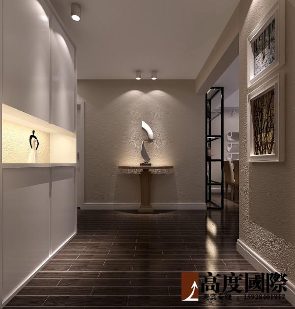 时尚复古三居 高度国际装饰案例  门厅