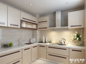 三居 客厅 卧室 厨房 餐厅 140平 港式 收纳 白领 厨房图片来自实创装饰晶晶在怡祥居140平简洁明朗的港式三居的分享