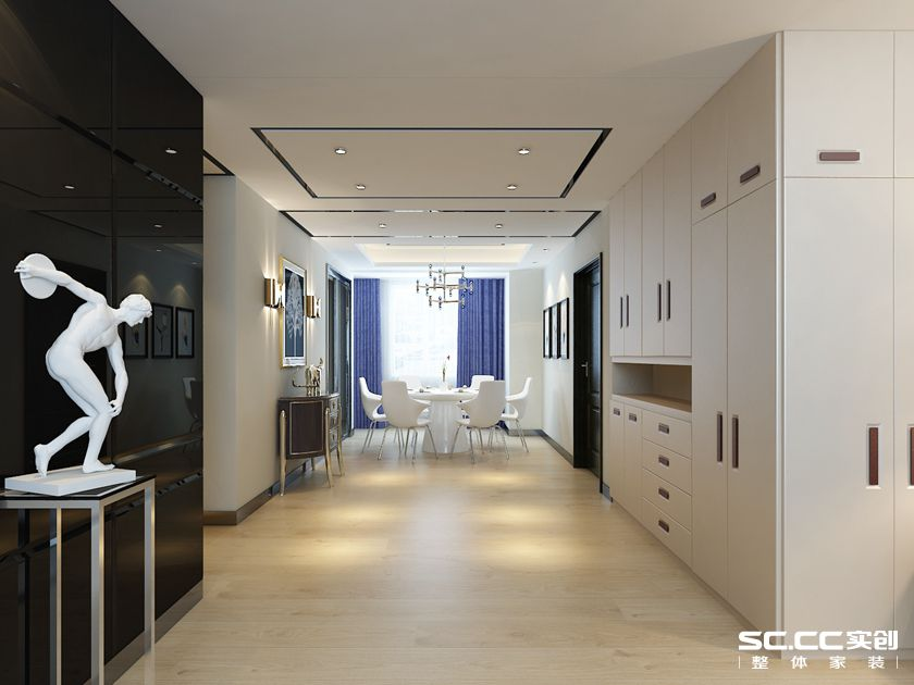三居 客厅 卧室 厨房 餐厅 140平 港式 收纳 白领 餐厅图片来自实创装饰晶晶在怡祥居140平简洁明朗的港式三居的分享