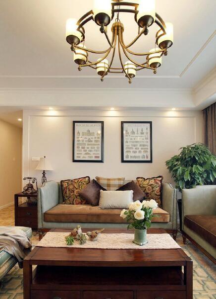 小清新美式家四居室。