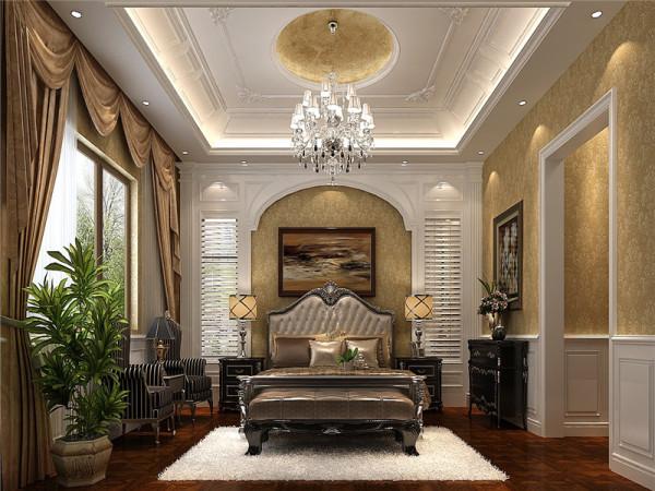 三层主卧:主要的家具、家纺和配饰都是以欧式风格为主,然后融入中国传统元素,有主有次地将中西元素结合在一起,从而形成中西合璧的完美混搭。