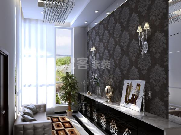 以黑白为主调的设计风格,后现代风格的餐桌,又给餐厅增添了奢华、典雅、舒适。