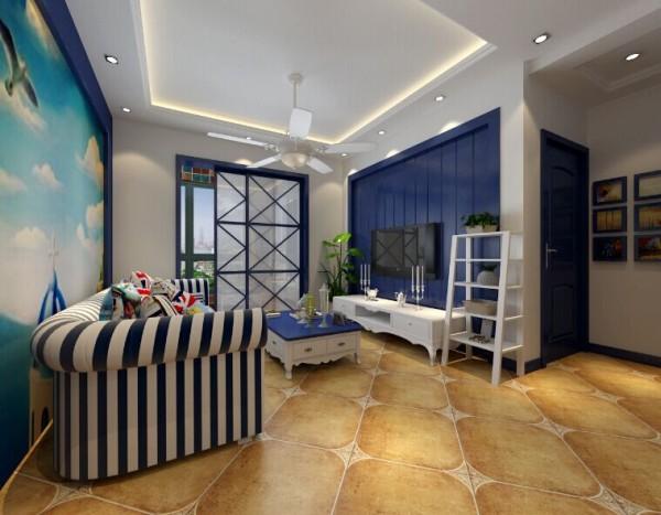本案是和润林湖美景的装修设计,原始结构是方方正正的的小户型,在设计上采用了地中海的设计风格, 地上都贴了仿古砖,地砖的光亮显得空间更为宽敞。 里面大多采用深蓝色,给人温暖的感觉。
