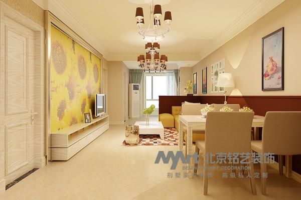 客厅图片来自Myart--多多在奥北公元-简约-108平的分享