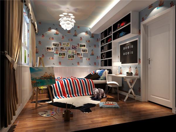 一般的卧室不设顶灯,多用温馨柔软的成套布艺来装点,同时在软装和用色上非常统一。