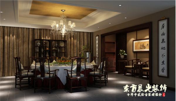 淳朴的中式餐厅装修设计主要还是以现代时尚新颖的设计手法为前提,与此同时将倍受大家欢迎的东方传统元素融合其中,保留传统中式设计质朴高雅之风,同时满足现代人们实际生活的需求。