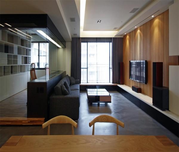 客厅家具选用用的是现代简约风格。