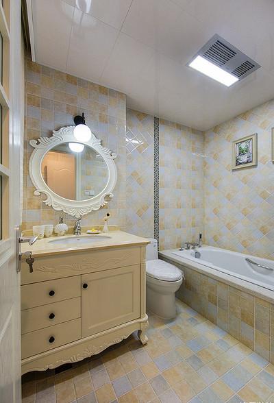 卫生间图片来自家装大管家在暖暖温馨 120平简约美式混搭3居的分享