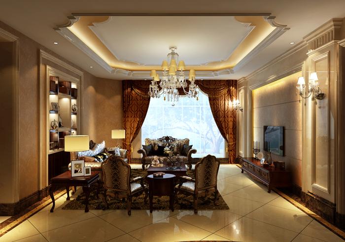 欧式 别墅 收纳 白领 80后 小资 高富帅 客厅图片来自北京高度国际---小吴在浪漫欧式润泽公馆的分享