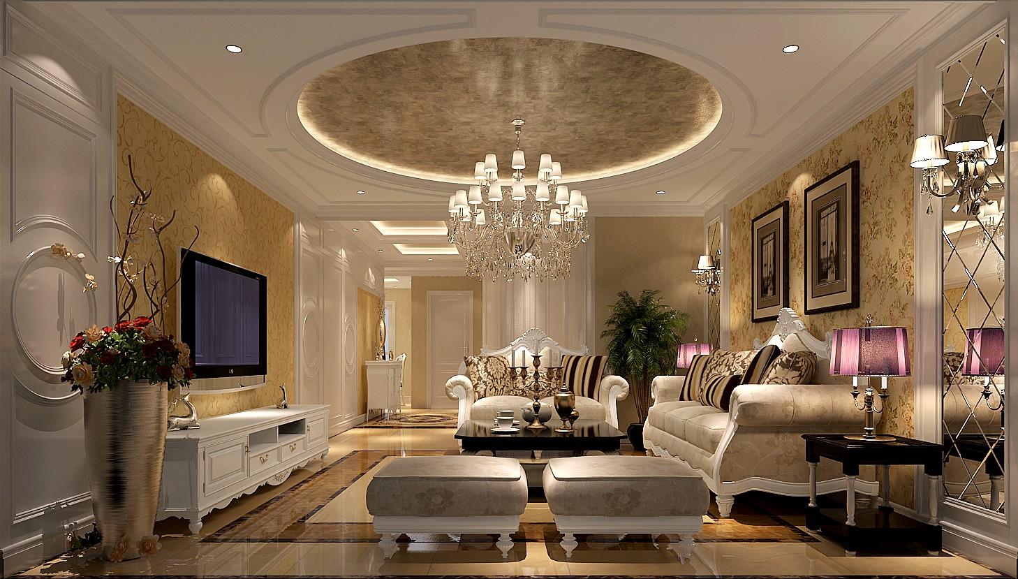 公寓 中式 客厅图片来自高度国际装饰宋增会在国风美唐135平米中式风格的分享