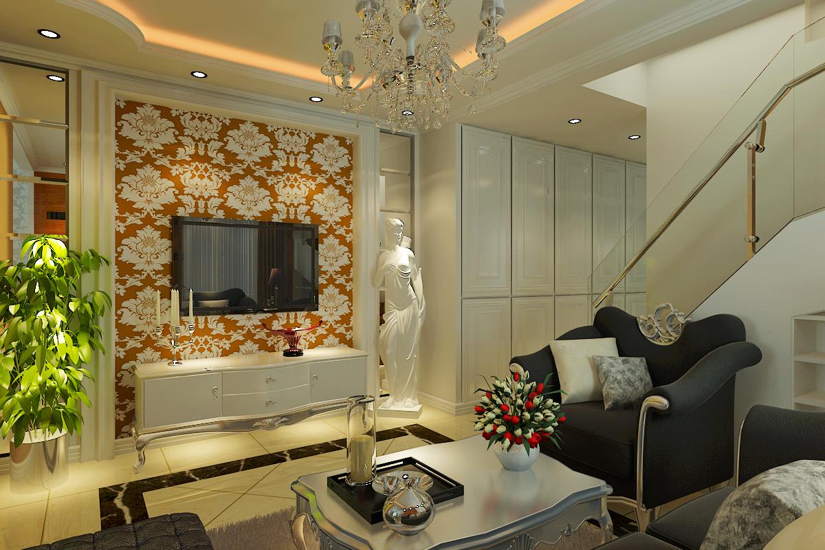 凯旋门 欧式风格 大宅 客厅图片来自百家设计小刘在凯旋门200平欧式风格设计的分享