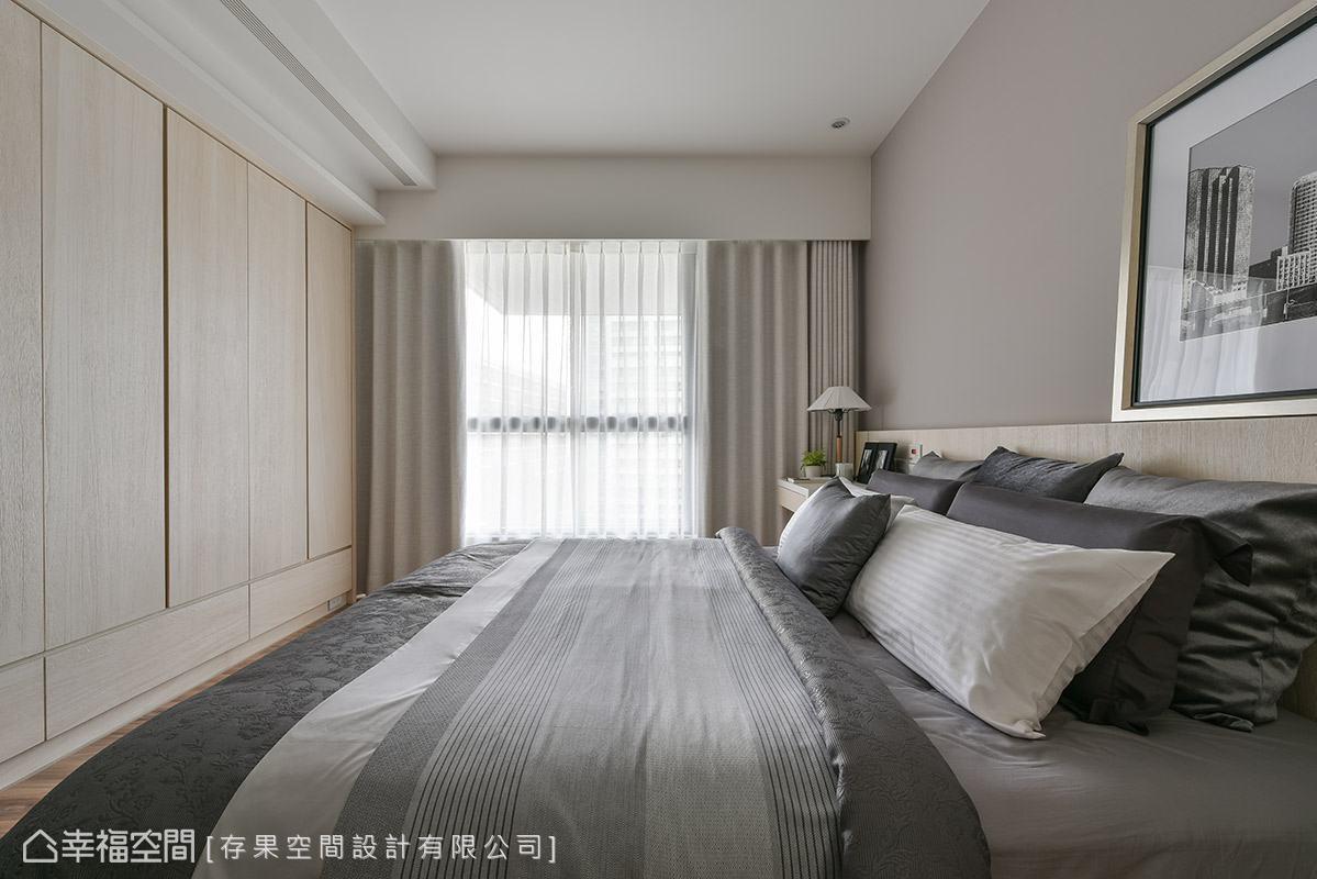 休闲 简约 三居 收纳 温馨 卧室图片来自幸福空间在100平温馨简单无压享生活的分享