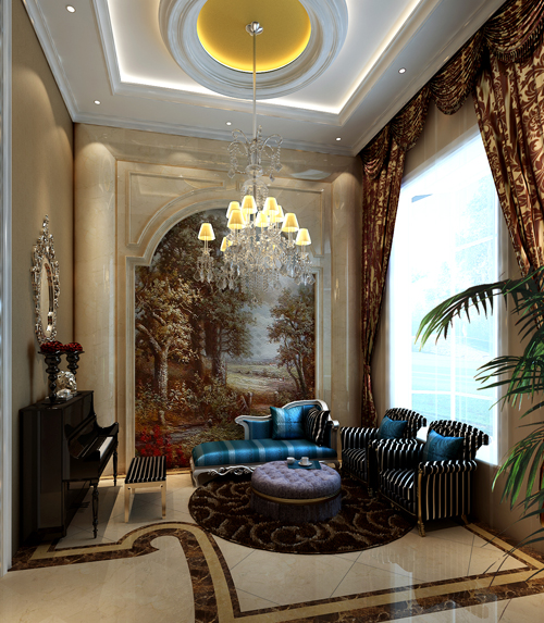 欧式 别墅 收纳 白领 80后 小资 高富帅 书房图片来自北京高度国际---小吴在浪漫欧式润泽公馆的分享