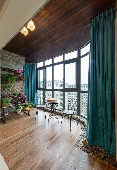阳台图片来自家装大管家在暖暖温馨 120平简约美式混搭3居的分享