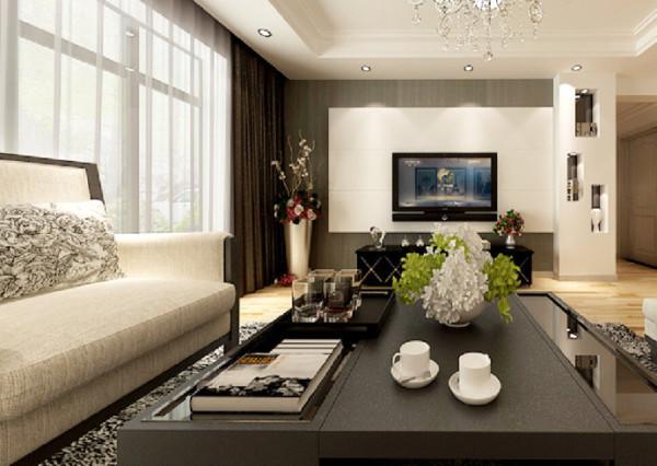 保利凤凰湾2室2厅1厨1卫98平户型现代风格装修解决方案