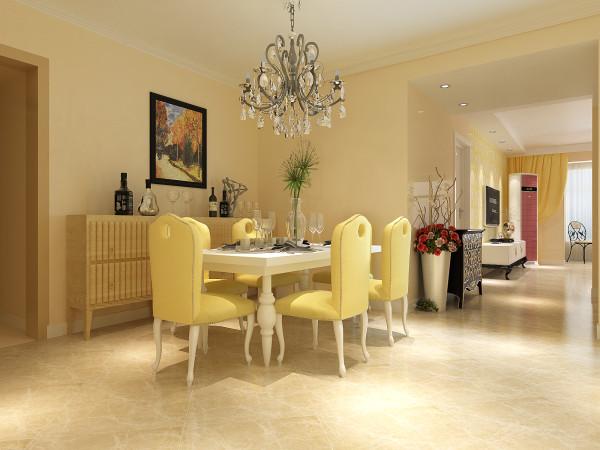餐厅空间划及功能划分的比较合理,也有足够的彩光,没有浪费。所以再设计的时候以后期颜色搭配和软装饰为主,凸显家居的温馨与自然。