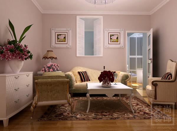 郑州保利海上五月花90平方三室两厅装修效果图