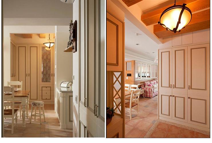 田园 三居 旧房改造 玄关图片来自过家家装饰在129平米20万元三居室田园风的分享