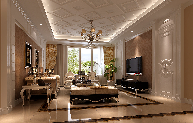 四居 公寓 欧式 客厅图片来自高度国际装饰宋增会在K2玉兰湾180平米欧式风格的分享