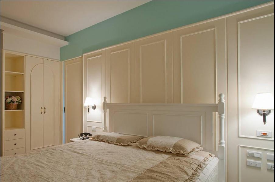 田园 三居 旧房改造 卧室图片来自过家家装饰在129平米20万元三居室田园风的分享