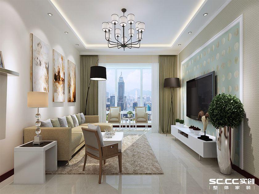 简约 三居 金地自在城 客厅图片来自实创装饰上海公司在140平三居现代简约风格装修设计的分享