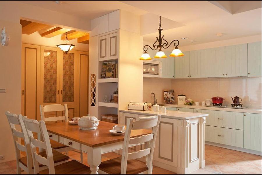 田园 三居 旧房改造 餐厅图片来自过家家装饰在129平米20万元三居室田园风的分享