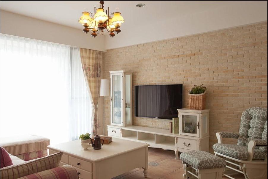 田园 三居 旧房改造 客厅图片来自过家家装饰在129平米20万元三居室田园风的分享