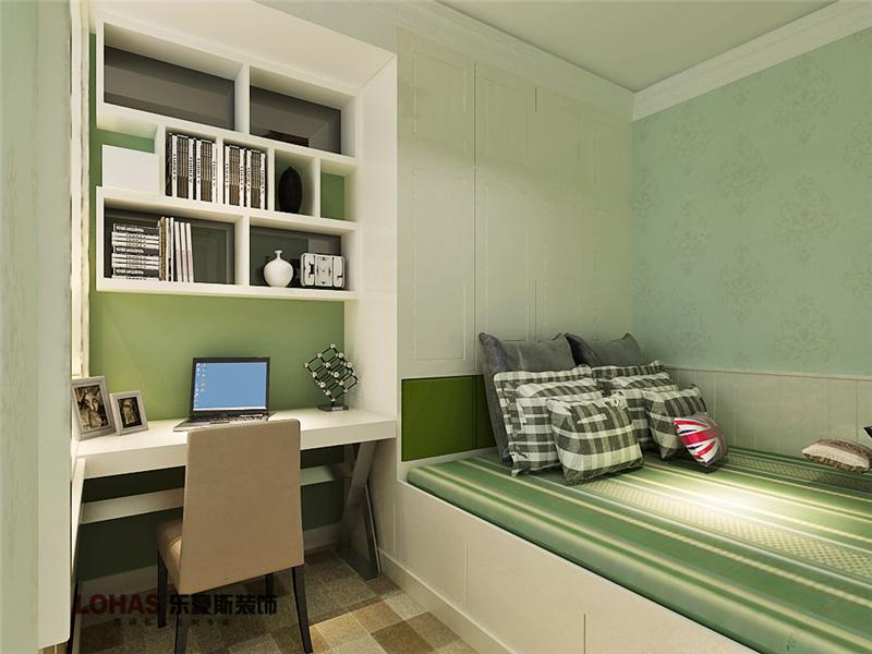 芳泽园装修 二居 美式 卧室图片来自乐豪斯设计师毛宁在芳泽园装修效果图的分享