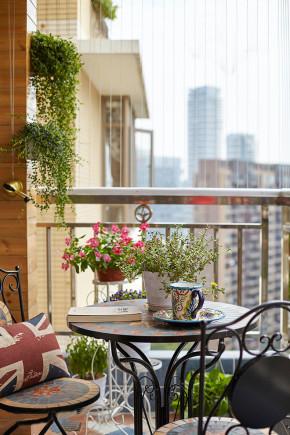 美式 上海装饰 上海实创 旧房改造 80后 小资 收纳 白领 三居 阳台图片来自上海实创-装修设计效果图在170平优雅美式冬至里的一抹阳光的分享