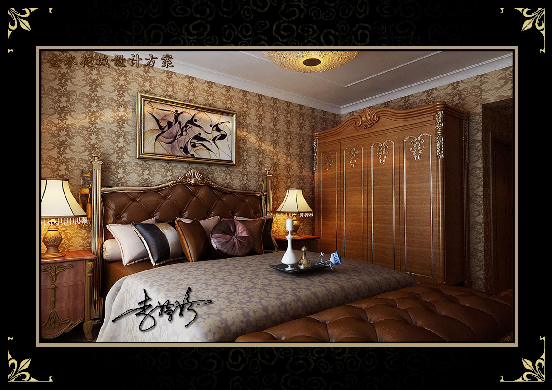 三居 阁楼 混搭风格 卧室图片来自百家设计小刘在金水花城142平阁楼美欧混搭风格的分享