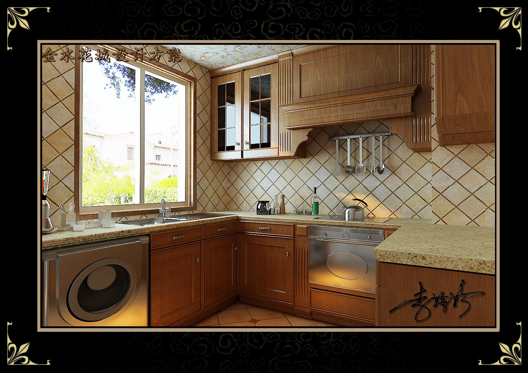 三居 阁楼 混搭风格 厨房图片来自百家设计小刘在金水花城142平阁楼美欧混搭风格的分享