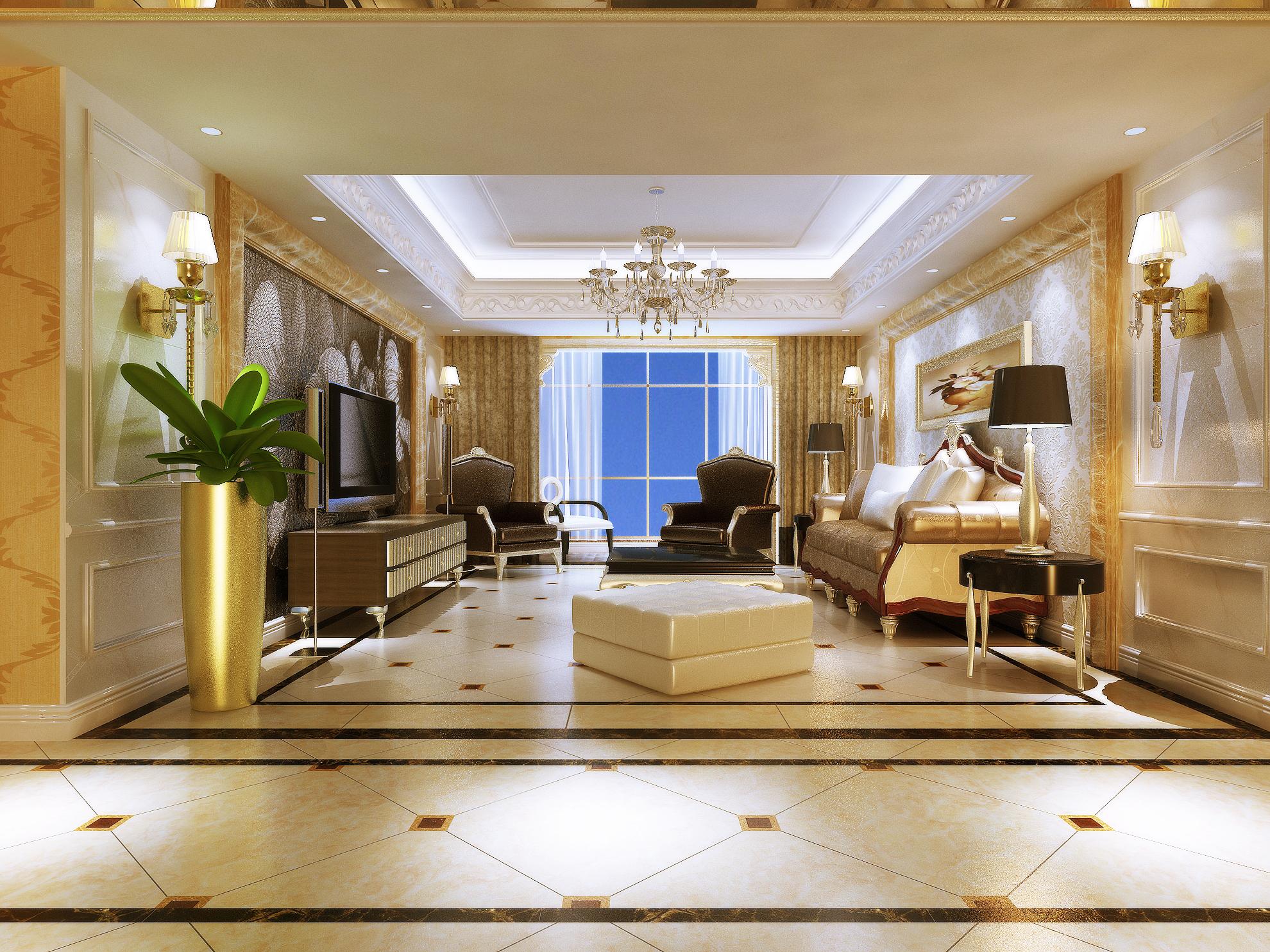 怡丰森林湖 大宅 欧式风格 装修 客厅图片来自夏曼在怡丰森林湖 大宅 欧式风格装修的分享