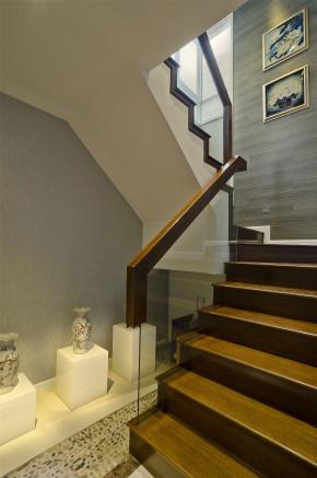 简约 三居 白领 收纳 80后 中式 楼梯图片来自一道伍禾装饰设计师杨洋在古典与现代的中式风格金茂悦的分享