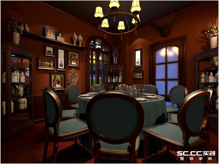 新古典风格 会所装修 餐厅图片来自实创装饰上海公司在130平多彩混搭休闲会所的分享