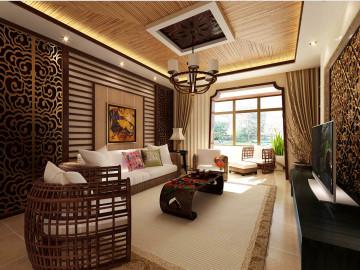 保利花园161㎡东南亚风格