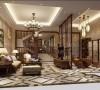 南郊中华园别墅户型装修美式风格最新设计案例展示,腾龙别墅设计师劳纳作品,欢迎品鉴!