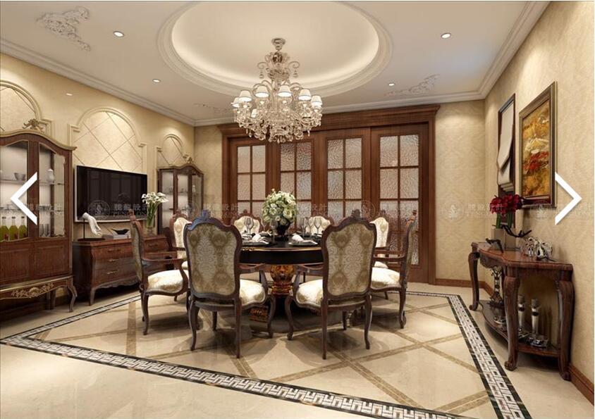 南郊中华园 别墅装修 别墅设计 美式风格 腾龙设计 劳纳作品 餐厅图片来自腾龙设计在南郊中华园别墅装修美式风格设计的分享