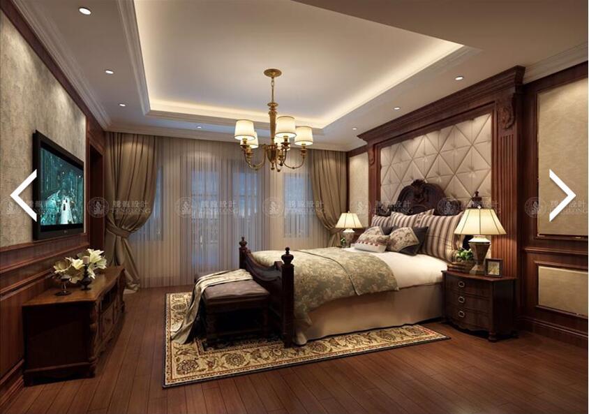 南郊中华园 别墅装修 别墅设计 美式风格 腾龙设计 劳纳作品 卧室图片来自腾龙设计在南郊中华园别墅装修美式风格设计的分享