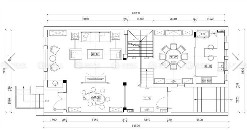 南郊中华园 别墅装修 别墅设计 美式风格 腾龙设计 劳纳作品 户型图图片来自腾龙设计在南郊中华园别墅装修美式风格设计的分享