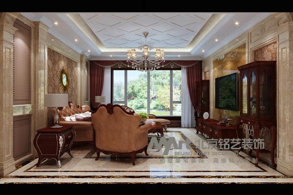客厅图片来自北京铭艺-Myart-大飞在祥云国际-178-欧式新古典的分享