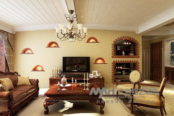 客厅图片来自北京铭艺-Myart-大飞在五十四所-美式田园的分享