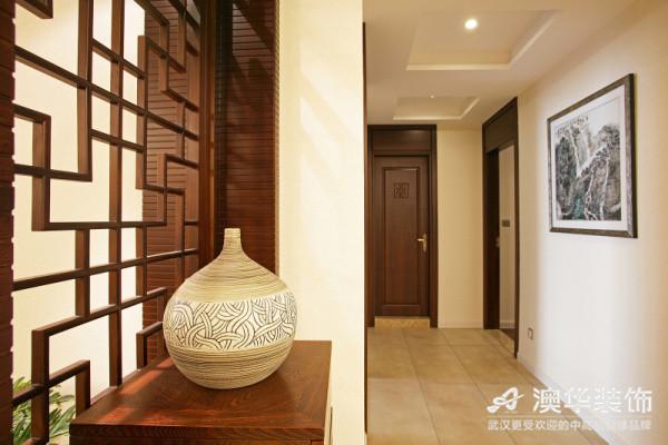 中式风格 新房装修 澳华装饰 三居室 玄关图片来自澳华装饰有限公司在南湖玫瑰湾--新中式慢生活的分享