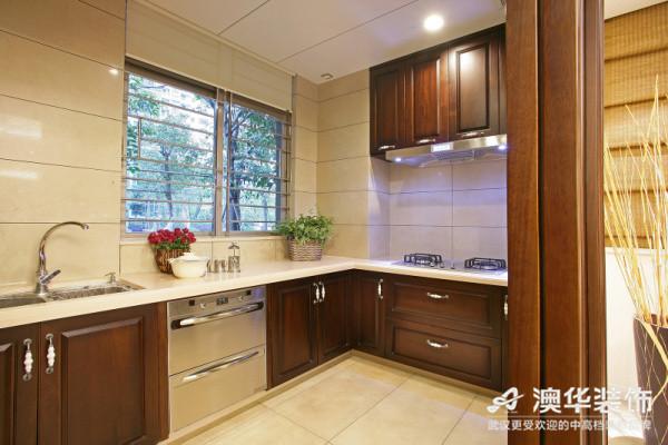 中式风格 新房装修 澳华装饰 三居室 厨房图片来自澳华装饰有限公司在南湖玫瑰湾--新中式慢生活的分享