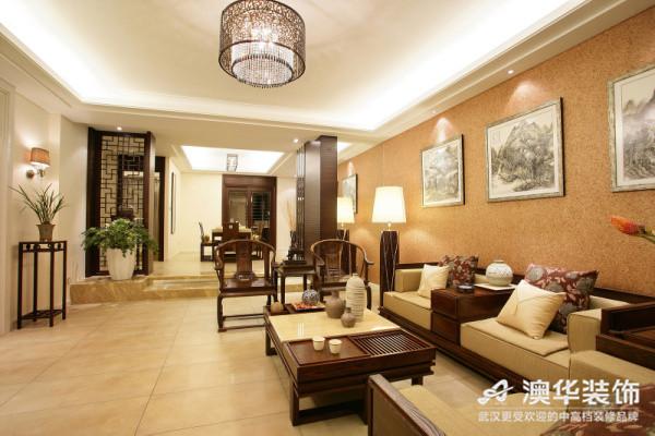 中式风格 新房装修 澳华装饰 三居室 客厅图片来自澳华装饰有限公司在南湖玫瑰湾--新中式慢生活的分享