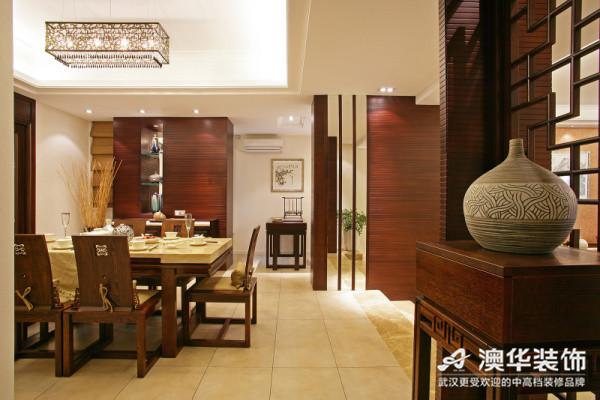 中式风格 新房装修 澳华装饰 三居室 餐厅图片来自澳华装饰有限公司在南湖玫瑰湾--新中式慢生活的分享