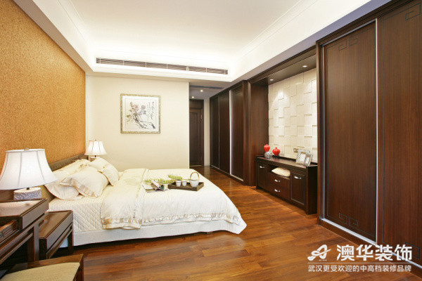 中式风格 新房装修 澳华装饰 三居室 卧室图片来自澳华装饰有限公司在南湖玫瑰湾--新中式慢生活的分享