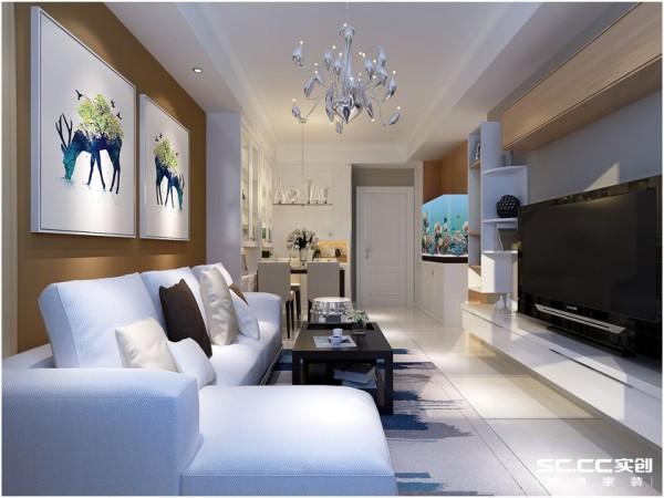 干净整洁的空间是每个家必备的,风格简约却不简单。驼色的背景墙同木质吊柜相互呼应形成统一。