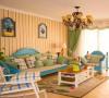 暖暖的很温馨,充满小情调,软装蓝色绿色为基调,清新浪漫,蓝色的沙发,格子保证塑造地中海气氛。
